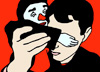 Self portait with Clown (76x56)